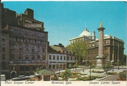 Jacques Cartier Square Plastichrome Colorpicture Of Canada Printed In USA  Used To Australia Front & Back Shown - Montreal