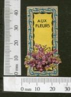 India 1950's Aux Fleurs French Print Vintage Perfume Label Multi-colour # 1591 - Labels