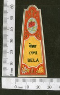India 1950's Bela Hair Oil French Print Vintage Perfume Label Multi-colour # 3501 - Labels