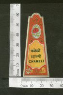 India 1950's Chameli Hair Oil French Print Vintage Perfume Label Multi-colour # 2863 - Labels