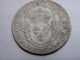 LOUIS XIV 1/2 ECU OU 34 SOLS DE STRASBOURG  (alsace) - 1643-1715 Louis XIV. Le Grand