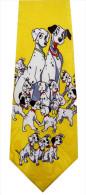 101 Dalmatians Disney Dog Puppy Pongo Perdita 99 Puppies YELLOW Cartoon Novelty Fancy Silk NECK TIE - Other Collections