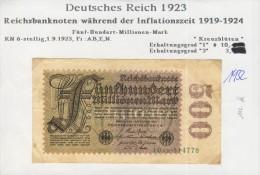 Deutsches Reich -- Reichsbanknote Während Der Inflationszeit V. 1923 -- 500 Millionen Mark  (1932) - [ 3] 1918-1933 : Weimar Republic