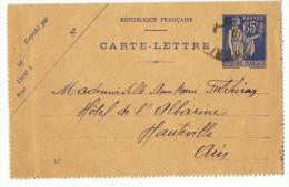 Carte_lettre      65 C         Format 11cm  X  7 Cm - Préoblitérés