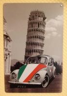 Plaque Métallique Publicitaire Décorative - Volkswagen COCCINELLE VW PISE Italie Italia - Plaques Publicitaires