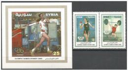 Olympische Spelen 2000 , Syrie  - Blok + Zegels Postfris - Zomer 2000: Sydney