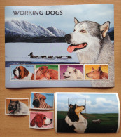 Tanzania 1996 Working Dogs Chiens Hunde Berger Allemand Schäferhund 3 Stamps + 1 Sheet + 1 Souvenir Sheet MNH** - Tansania (1964-...)