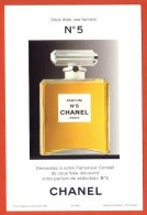 CARTE  FORMAT CARTE POSTALE CHANEL : N° 5 - Perfume Cards
