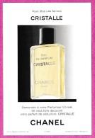 CARTE  FORMAT CARTE POSTALE CHANEL : CRISTALLE - Perfume Cards