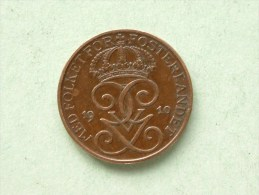 1910 - 1 Ore / KM 777.2 ( Uncleaned Coin / For Grade, Please See Photo ) !! - Suède