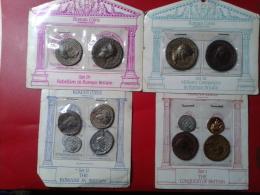 12 MONNAIES ROMAINES °ROMAN COINS REPRODUCTION En FDC ° - Monnaies