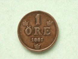 1881 - 1 Ore / KM 750 ( Uncleaned Coin / For Grade, Please See Photo ) !! - Suède
