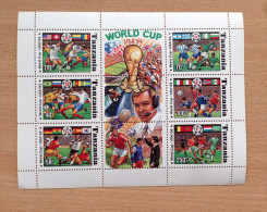 Tanzania 1994 WM World Cup Etats-Unis USA Coupe Du Monde Football Soccer Fußball 1 Sheet MNH** - Tanzanie (1964-...)