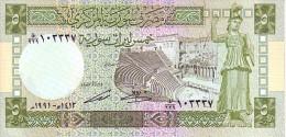 SYRIE   5  Syrian Pounds   Daté De 1991    Pick 100 E         ***** BILLET  NEUF ***** - Syrie