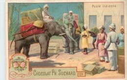 CHROMO CHOCOLAT PH. SUCHARD POSTE INDIENNE VOIR LES DEUX SCANS - Suchard