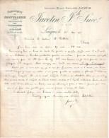HAUTE MARNE - LANGRES - GUERRE 1914-18 - LETTRE DE MR JACOTIN , FABRICANT DE COUTELLERIE , A MR RODDIER DE THIERS - 1917 - 1914-18