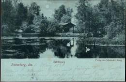 ! 1898 Mondscheinkarte Aus Insterburg In Ostpreußen, Stadtpark - Ostpreussen