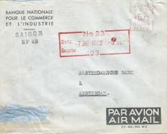 "Indochine Vietnam 1952 Saigon Meter Franking Satas ""SC"" 3010 EMA Cover - Indochina (1889-1945)"