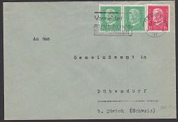 """DR Auslands-Bf Mit 5 Und 15 Pf Hindenburg Aus Berlin MWSt. """"Vermeidet Rundfunkstörungen"""" Nach Dübendorf - Germany"""