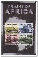 Gambia 2013 Postfris MNH, Trains - Gambia (1965-...)