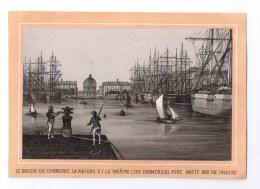 IMAGES, Le Bassin Du Commerce, La Mature Et Le Théâtre, Vierge - Vieux Papiers