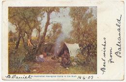 An Australian Aborigenal Camp In The Bush  P. Used Balranald NSW - Aborigènes
