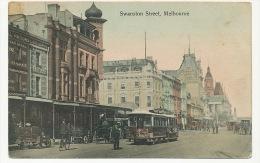 Melbourne Swanston Street Tramway Tram  Pub Carlton P. Used 1907 - Melbourne
