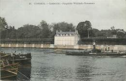 CORBEIL CASTEL JOLI PROPRIETE WALDECK ROUSSEAU CARTE COLORISEE - Corbeil Essonnes