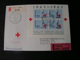 == CH R-Express   FDC 1963   Red Cross Bl.19 - Blocks & Kleinbögen