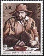FRANCE Poste 2108 ** Tableau De LE MAIN : La Famille De Paysans Peinture Peintre - France