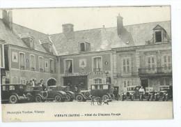 CPA - Vibraye - Hôtel Du Chapeau Rouge - Vibraye