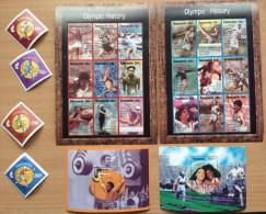 Tanzania 1995 Atlanta Olympic History Games Jeux Olympiques Olympia Sport  4 Stamps + 2 Sheets + 2 Souvenir Sheets MNH** - Tanzanie (1964-...)