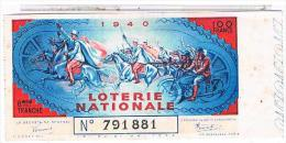 BILLET LOTERIE 194O  LEGION ETRANGERE ET MOTARDS  LOT07 - Lottery Tickets
