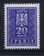 Serbia: Mi 22 MNH/** - Serbia