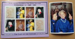 Tanzania 2002 In Memoriam Her Majesty The Queen Mother England UK 1900 1 Sheet + 1 Souvenir Sheet MNH** - Tanzania (1964-...)