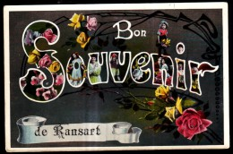 Bon Souvenir De RANSART - Carte Fantaisie  // - Charleroi
