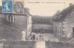 POILLY Sur SEREIN     Ecole Des Filles   La Cour   1908  Les Fillettes Jouent à La Ronde Sous Le Regard De La Maîtresse - Zonder Classificatie