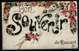 Bon Souvenir De RANSART - Carte Fantaisie  N2  // - Charleroi