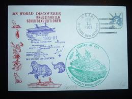 LETTRE TP USA 22 OBL.MEC. FEB 12 1981 U.S. NAVY FPO 96692 MCM ANTARCTICA + MS WORLD DISCOVERER - Unclassified