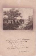 CPA Poème Lamartine Avec Paysage - 1922 (1274) - Schriftsteller