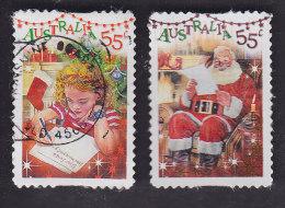 Australie. Fillette écrivant Au Père Noël 3374. Père Noël Consultant Sa Liste De Cadeaux 3375 - 2010-... Elizabeth II