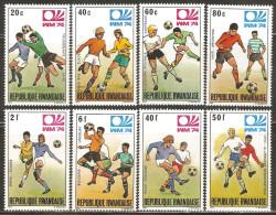 Rwanda 1974 Mi# 626-633 A ** MNH - World Cup Soccer Championship, Munich - Rwanda