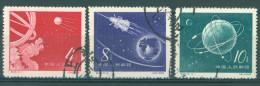 CHINA  - 1958 - USED  - SPOUTNIK SPUTNIK  - Mi 407 - 409 - YANG S139 - S141 - SG 1787 - 1789 - Lot 9609 - 1949 - ... República Popular