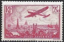 """FR Aerien YT 11 (PA) """" Avion Survolant Paris 2F50 Rose """" 1936 Neuf* - 1927-1959 Mint/hinged"""