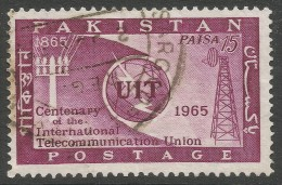 Pakistan. 1965 ITU Centenary. 15p Used - Pakistan