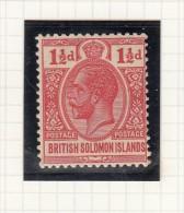 SOLOMON ISLANDS - KING GEORGE V - Grande-Bretagne (ex-colonies & Protectorats)