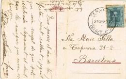 7478. Postal SENMENAT (barcelona) 1927 - 1889-1931 Reino: Alfonso XIII