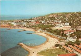 Cpsm SETE, Vue Aérienne Et La Plage , Au Fond Bassin De Thau     (32.07) - Sete (Cette)