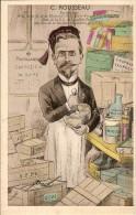 LEVALLOIS-PERRET-C.ROUSSE AU-Pharmacien-Président De La Section ESPERANTO-caricature Satirique - Levallois Perret