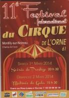 Livre -programme : CIRQUE  2014  , Festival A  MONTILLY  SUR  NOIREAU - ORNE - Livres, BD, Revues